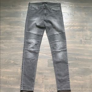 Flying Monkey Grey Moto Biker Jeans